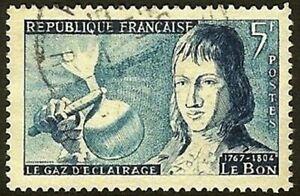 "FRANCE TIMBRE STAMP YVERT N° 1012 "" LE BON GAZ D'ECLAIRAGE 5F "" OBLITERE TB"