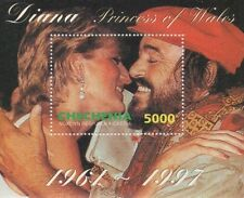 DIANA PRINCESS OF WALES LUCIANO PAVAROTTI CHECHENIA 1997 MNH STAMP SHEETLET