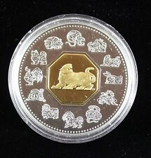 **1998**Year of the Tiger, Lunar $15 Proof Silver Coin