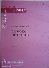 """Partition pour Alto et piano, """"la voix de l'Alto"""" de jean-michel Trotoux"""