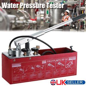 Manual Hydraulic Water Pressure Test Pump Pipeline Leakage Pipe Tester Testing