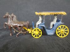 Orig. 1940's Stanley Cast Iron Horse & Buggy w/ Driver & Passenger Toy (Great)