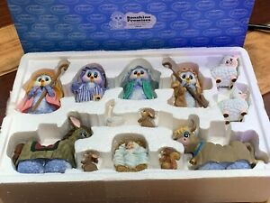 SONSHINE PROMISES 7500 13 PIECE CHILD NATIVITY PAGEANT SET 1998 OWL CLASBY NEW