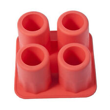4-Cup Ice Cube Shot Shape Silicone Shooters Glass Freeze Molds Maker Tray Partys