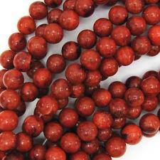 Red Sponge Coral Round Beads Gemstone 15.5