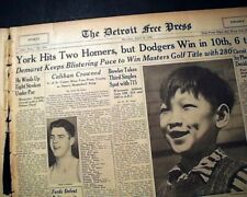 THE MASTERS TOURNAMENT Jimmy Demaret Wins Golf Major at Augusta 1940 Newspaper