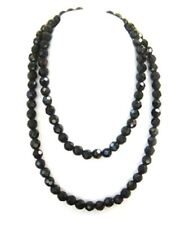 """24"""" 12mm faceted Onyx bead necklace NKL320002"""