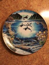 "1991 Danbury Mint ""Sunlit Glow"" Collector Plate By Robert Lyn Nelson (Orcas)"