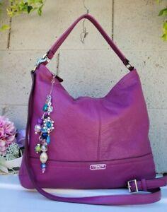 Coach 23293 amethyst purple Park Hobo Leather Shoulder purse crossbody handbag