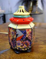 Art Deco bonito rauchverzehrer pagode motivo floral 17cm porcelana