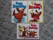 3 Fotographica Geburtstags-Karten & Umschlag No 9279, No 9321 und No 9281