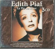 Edith Piaf La Vie En Rose 3 cd Box Set 42 TRACKS, EXCELLENT COND FREE USA SHIP