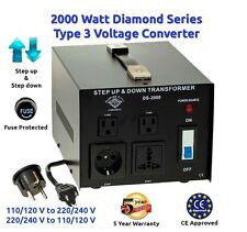 Diamond Series 2000 Watt Step Up/Down Voltage Converter Transformer