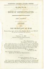 Congressional Imprint, Army Registry, 1849