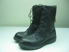VINTAGE BLACK DISTRESSED MILITARY LACE UP COMBAT ARMY BIKER WORK BOOTS 10.5 R