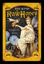BEE KIND HONEY GARY LIPPINCOTT VINTAGE TIN METAL SIGN FANTASY FAIRY GREAT GIFT