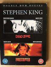 THE DEAD ZONE / FIRESTARTER ~ Classic Stephen King Horror Double Bill  UK DVD