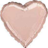 "18"" Rose Gold Heart Shape Helium Foil Balloons Wedding Baby Shower Birthday"