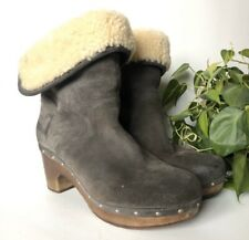 Ugg Lynnea Shearling Lined Leather Winter Boots Womens Size 9