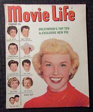 1952 Feb MOVIE LIFE Magazine VG 4.0 Doris Day Cover - Elizabeth Taylor