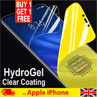 for iPhone XR X XS MAX Soft Hydrogel Protective Film Screen Protector Full Clear