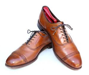Allen Edmonds Fifth Avenue Brown Leather Cap Toe Brogue Dress Shoe 5735 SZ 8.5D