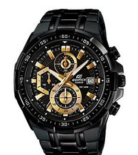 Men's Casio Edifice EFR-539BK-1AV Sport Watch Chronograph Stopwatch Date Display