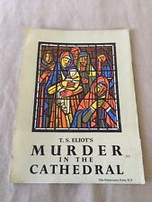 Murder In The Cathedral T.S.Eliot Screenplay Pamphlet