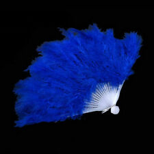 Wedding Gift Burlesque Dance Fancy Costume Folding Feather Hand Fan PL