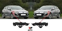FOR MAZDA 3 2009 - 2012 NEW FRONT BUMPER HOLDER BRACKET PAIR SET LEFT AND RIGHT