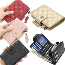 Women Ladies Leather Wallets Small Bifold With Zipper Coin Pocket Mini Purse US