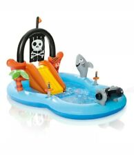 Intex Kid Friendly Outside Inflatable Water Pirate Fun Play Toy Center