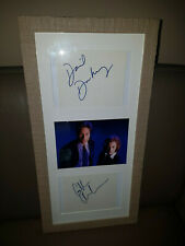 Extremely Rare! The X Files Agent Mulder and Scully Autographs Framed