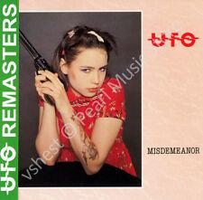 UFO MISDEMEANOR CD MINI LP OBI + bonus tracks Mogg McClendon rock oop old stock