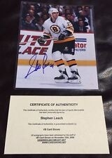 New listing STEPHEN LEACH Boston Bruins Signed/Autographed Official NHL 8x10 Photo, COA