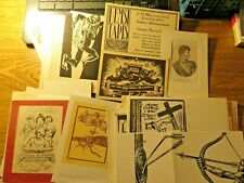 More details for vintage graphic art mixed lot .65 + items,pf/greetings cards,ex libris