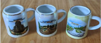 Shot Glass Mini Beer Stein Mug Set of 3 Vintage West Germany by Unterweissbach