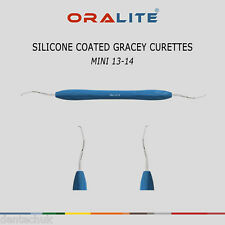 SILICONE Coated Gracey Curette MINI 13/14 Dentale Strumento numero Scaler