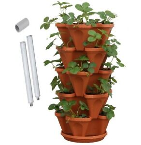 5 Tier Vertical Garden Stackable Planters (Medium 33cm) Mr Stacky Australia