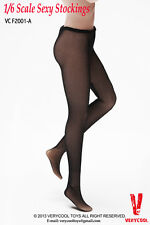 1/6 Women Lace Mesh Stockings BLACK For Phicen Hot Toys Female Figure Body USA