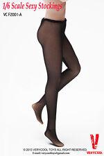 1/6 Women Lace Mesh Stockings BLACK For Phicen Hot Toys Female Body