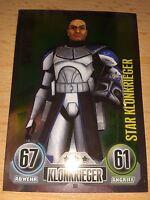 Force Attax Star Wars Serie 1 Star-Karte Nr.161 Captain Rex Klon Sammelkarte