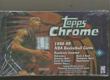 1998-99 TOPPS CHROME BASKETBALL FACTORY SEALED HOBBY BOX - NOWITZKI - CARTER RC