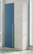 Armario infantil o juvenil 2 puertas azul y blanco alpes con barra y estantes