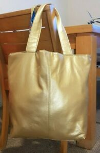 SJP NYC Large Perfum Tode Tote Shoulder Bag Gold