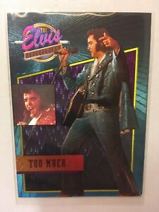 """1992 Elvis Presley Collection   Foil Chase Card """"Too Much"""" #23 of 40  SHIPS FREE"""