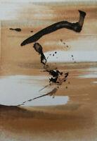 ZAO WOU-KI : L'éclair - GRAVURE originale #1967 #ART CHINOIS