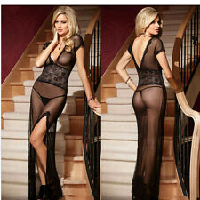 Sexy Up Skirt Gown Lingerie Lace Elegant Dress Strip Tease Cougar Affair Outfit