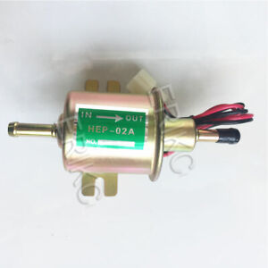 HEP02A Universal 12v 2.5-4 PSI Gas Diesel Inline Electric Fuel Pump Low Pressure