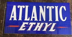 Atlantic Ethyl Petrol Oil Metal Sign